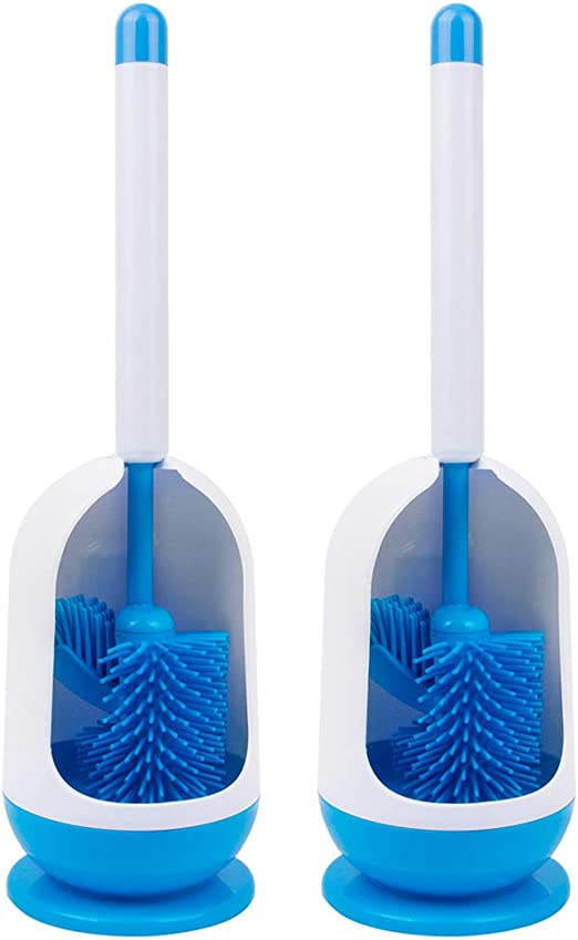 Blanco//Gris MR.SIGA Cepillo para Inodoro con Soporte para ba/ño