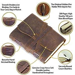 Handgemachtes ledergebundenes Notizbuch für Sie und Ihn