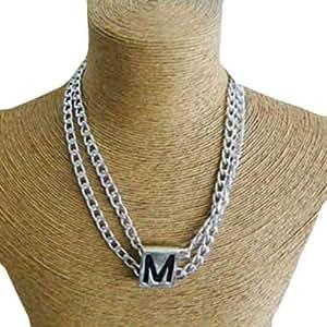 Schakespeare Women's Rhodium Pendant Necklace