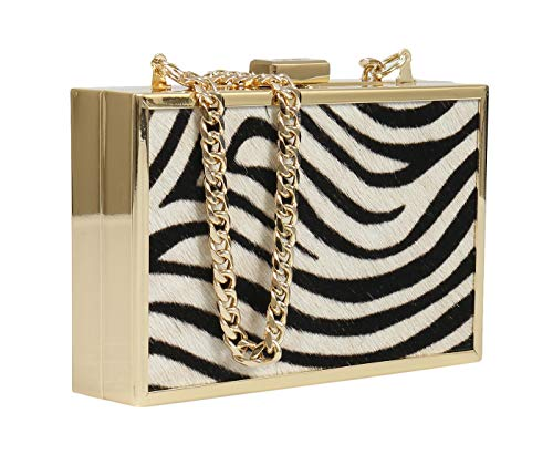 HXLPA7 Black Roberto Cavalli Box Clutch Womens for White 200 5qazaxw7B