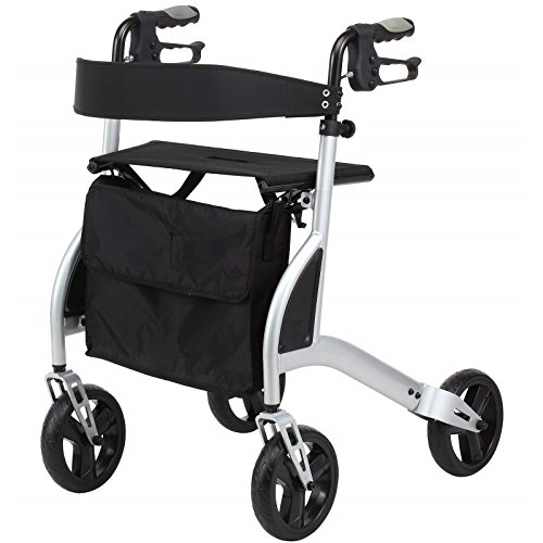 (Elite Care Ultra Lightweight Folding Rollator Walking Frame With Seat And Locking Brakes Only 13lbs)