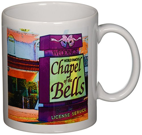 3dRose A Chapel of The Bells Sign in Las Vegas, Nevada Ceramic Mug, - Nevada In Las Vegas Outlet