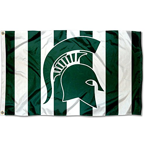 College Flags and Banners Co. Michigan State Spartans Stripe Out Flag