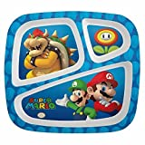 Super Mario Brothers Divided Plates for Kids - Plastic Sectioned Dinner Plate by Zak