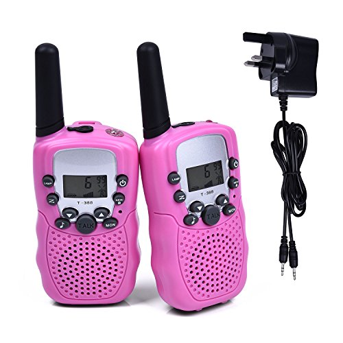 Fetoo 2pcs Kids Walkie Talkies Walky Talky PMR446 3KM Long Range with...