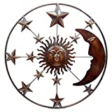 D64079 Metal Wall Art Sun Moon Star