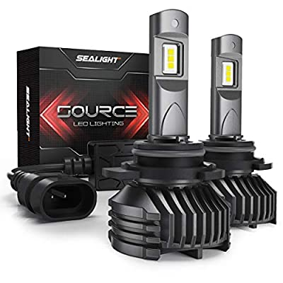 SEALIGHT 9012/HIR2 LED Headlight Bulbs with Canbus Combo, High Low Beam, 12,000 Lumens High Brightness, 6000K Cool White, S3 Series: Automotive