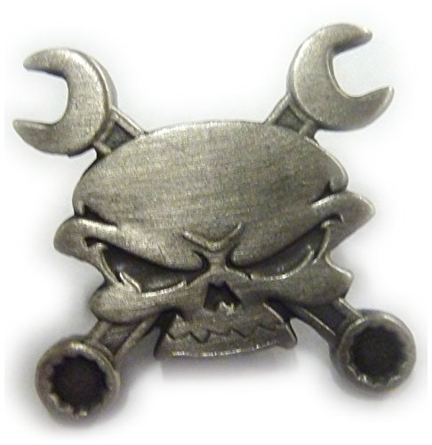 Skull Cross Wrenches Antique Nickel Car Motorcycle for sale  Delivered anywhere in USA