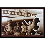 buyartforless IF PW 48104 36x24 1.25 Black Framed Led Zeppelin The Starship Airplane 36X24 Music Art Print Poster Wall Decor Classic Image