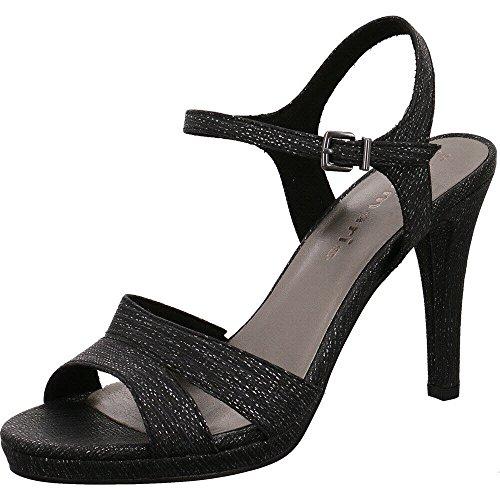 Sandali STRUCT T Chiusura con a 28329 BLACK Donna Tamaris 8qwO5ax