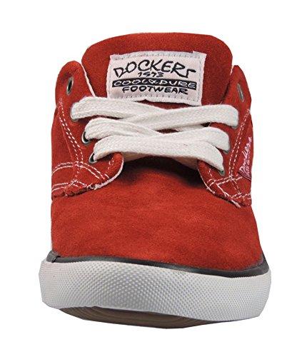 Dockers 327544 Sneaker Imitazione Pelle, Rosso, Taglia 37