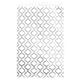200 pcs Shimmering Silver Trellis Pattern Paper Merchandise Gift Bags Shopping Sales Tote Bags 6''x9'' - Caddy Bay Collection