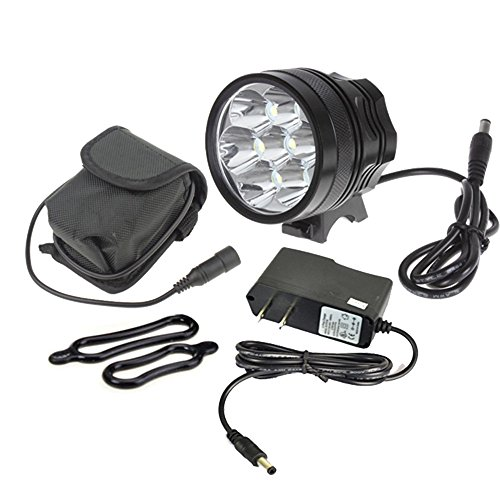 10000lm 7x Cree XML T6 MTB Bike Bicycle Cycling Head Light Lamp Headlight 6x18650 9600mAh Battery
