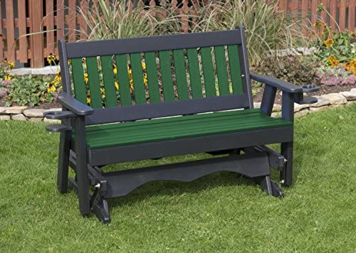Ecommersify Inc 5FT-Turf Green-Poly Lumber Mission Porch Glider