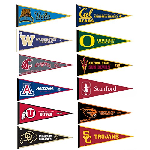 Pac 12 Conference College Pennant Set (Conference Pennant Set Mini)