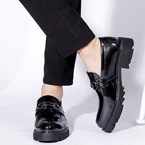 LEDLFIE Homme Chaussures Habillées Décontractées Mode Chaussures en Cuir Chaussures Homme Slip-on Blue xJiejl4Oo