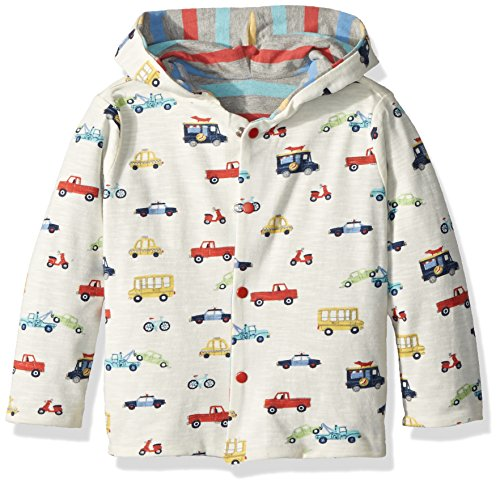 Hatley Baby Boys Reversible Mini Cardigan, Rush Hour, 3-6 Months - Organic Cotton Cable Sweater