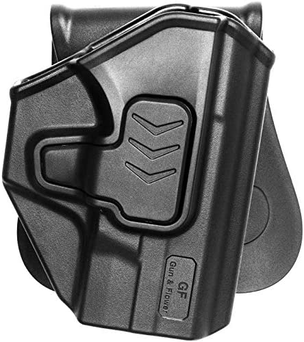 M&P Shield 9mm Holster,OWB Holster for S&W M&P Shield 9mm Holster/40 S&W Holster|Smith and Wesson M&P Shield Holster M2.0 Compact Holster Concealed Carry Outside Waistband-Adj-No Wear No Jitter