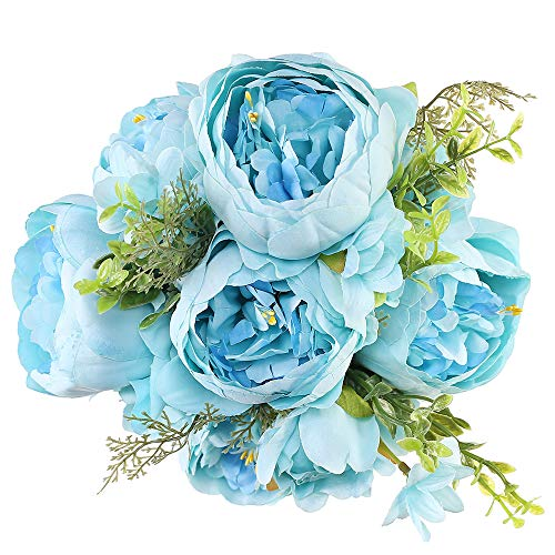 blue flowers silk - 4