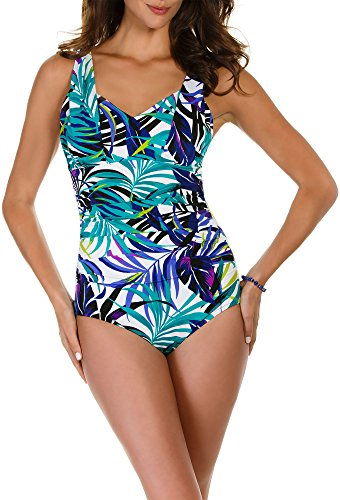 Miraclesuit Tropical Print Side Shirred One-Piece