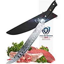 "DALSTRONG Butcher's Breaking Cimitar Knife - 10"" - Shogun Series Slicer - Japanese AUS-10V- Vacuum Treated - Guard Included"