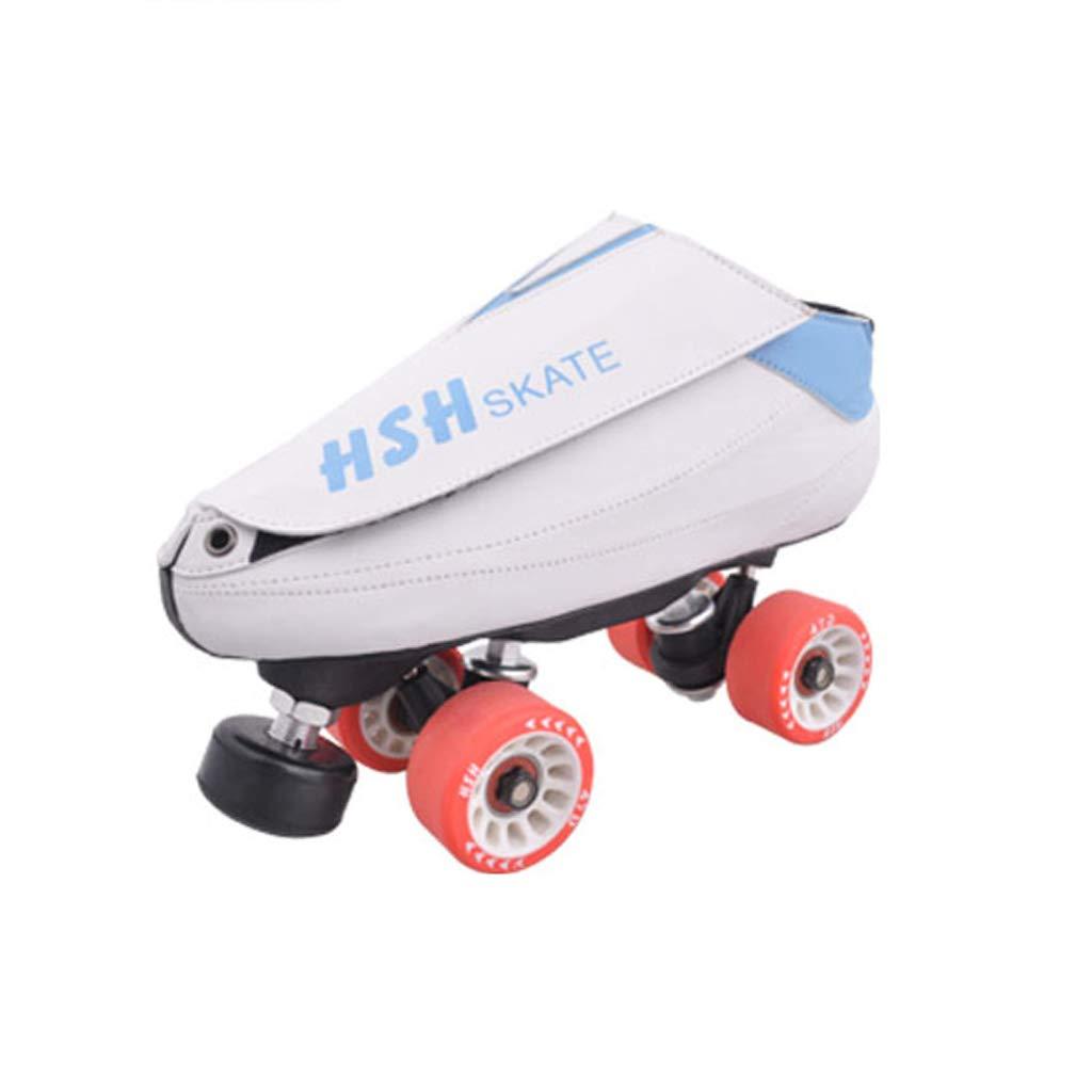 LIUXUEPING ローラースケート、 二列のスケート、 ホイールダンスシューズ、 スピードスケート靴 ブラシストリートシューズ ダブルロースケート B07GJQRGHR 4142 白 白 4142