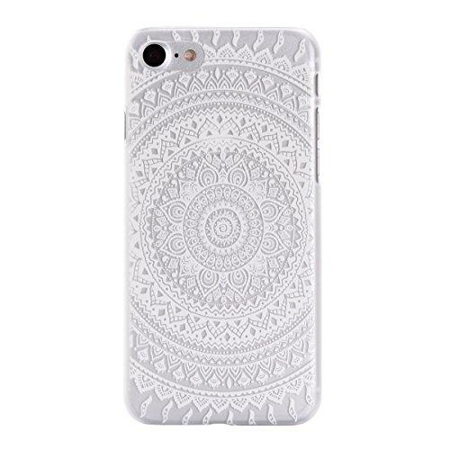 """MOONCASE iPhone 7 Plus Hülle, Ultra Slim Durchsichtig Transparente Hülle Mit weißem Muster Schutzhülle Handyhülle Tasche Schale Case für iPhone 7 Plus 5.5"""" - Clear 01"""