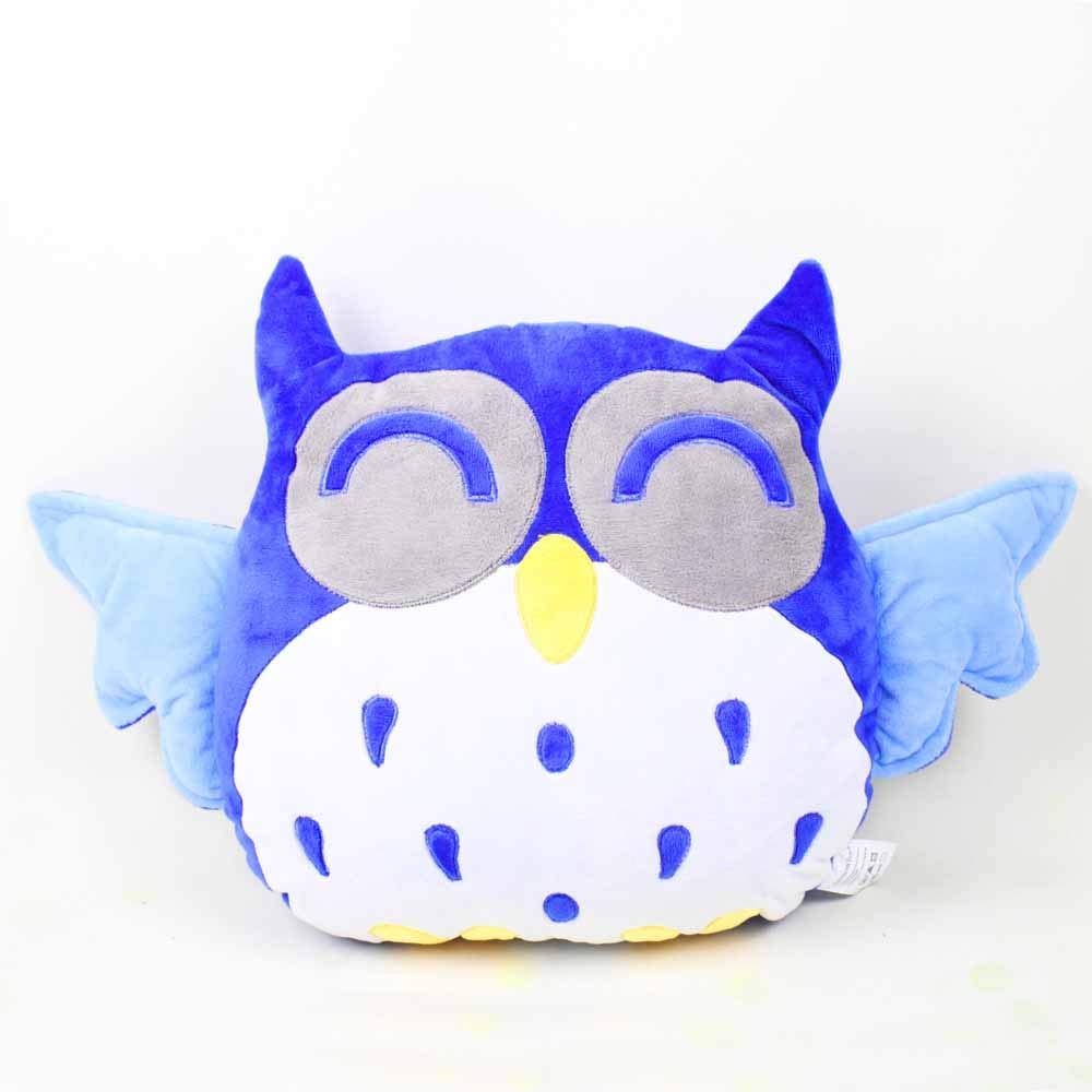 Rainbow Fox® Lustige Eule Kissen Süßes Sofa Kinderkopfkissen Blauen Zierkissen -Plüschspielzeug mit speziellem Design für dekorieren Sie Ihr Auto/Wohnzimmer / Büro/Kinderzimmer