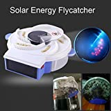 Solar Energy Electric Fly Trap Device with Trapping Food Electric Flycatcher