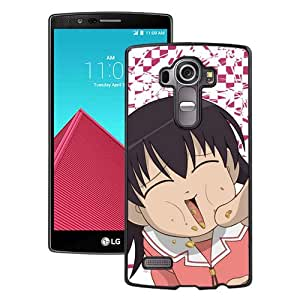 Popular And Unique Designed Cover Case For LG G4 With Azumanga Daioh Takino Tomo Girl Laughing Finger Food black Phone Case