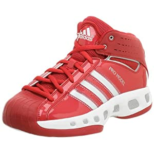 adidas Men's Pro Model Team Color Basketball Shoe,Red/Red,9.5 M