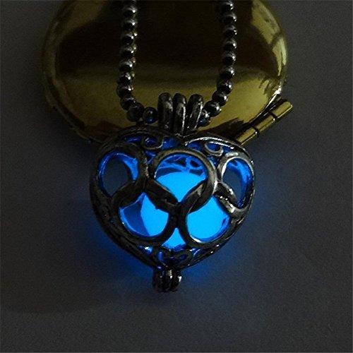 JIEPING Magnificent Legend of Zelda Beautiful Glow In Dark Charming Heart Pendant Necklace JewelryDark (Glow Necklace Wholesale)