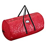 ProPik Artificial Tree Storage Bag Perfect Xmas Storage Container with Handles | 52' X 30' X 30' Holiday Tree Storage Case | with Sleek Zipper Perfect for Up to 7' Tall Disassembled Trees (Red)