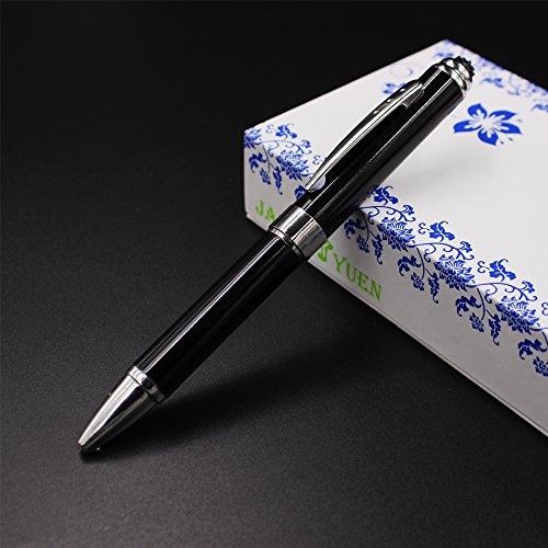 2 in 1 Vibration & massage ballpoint pen - mini Massage Tip Pen with Gift Box - Multifunction Electronic Pen (Black) by JASON YUEN (Image #1)