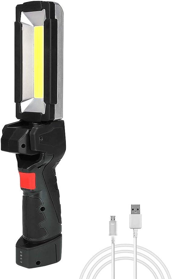 Coquimbo Led Arbeitsleuchte Usb Wiederaufladbare Taschenlampe Werkstattlampe Cob Inspektionsleuchten Mit Magnet Basis Für Zuhause Auto Reparatur Werkstatt Camping Notfall Auto