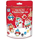 Make Your Own Christmas Ceramic Festive Figurines - Pack of 6
