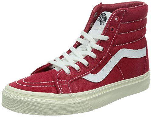 Vans Unisex Sk8-Hi Reissue (10 Oz Canvas) Tgo Red/Mrslw Skate Shoe 8 Men US / 9.5 Women US