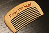 Personalized Beard Comb ''Fear the Beard'' style Front Custom Engraving on Back Perfect Gag Gift Made of Solid Beech Wood Close Teeth Anti-static Head Massage Hair Care