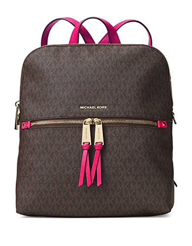 NEW AUTHENTIC MICHAEL KORS WOMEN'S MEDIUM RHEA SIGNATURE BACKPACK (Ultra ()