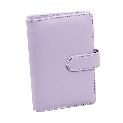 Cuaderno de piel sintética recargable con bolsillo para ...