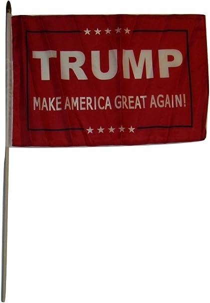 "6 Pack I Support President Trump Blue 100D 12/""x18/"" Stick Flag 30/"" Wood Staff"