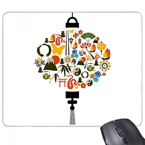 Teapot Ships - China Bamboo Lantern Fan Butterfly Taiji Teapot Mountain Sun Gate Ship Tree Mouse Pad Non-Slip Rubber Mousepad Game Office
