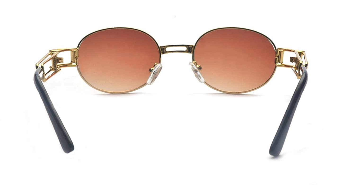 8d8a85d416 Amazon.com  ALWAYSUV Vinatge Retro Round Circle Lens Lennon Sunglasses  Brown  Clothing