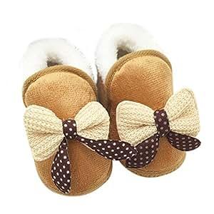 Amazon.com: Tenworld Newborn Baby Soft Sole Boots Bowknot