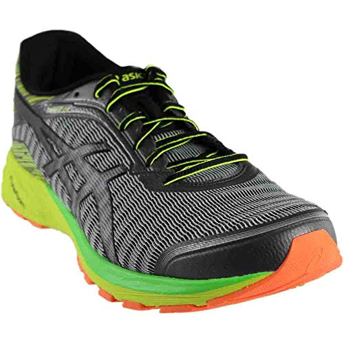 ASICS Men's Dynaflyte running Shoe, Mid Grey/Black/Safety Yellow, 12 M US ()