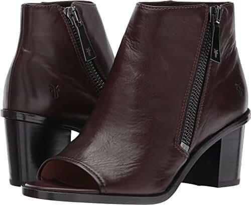 FRYE Women's Brielle Zip Peep Bootie Boot