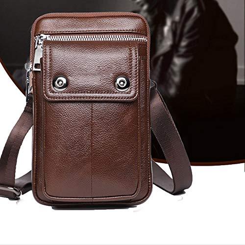 Bolsillos Pulgadas de 2018 Messenger Mini móvil ZQ Nuevos Hombres de de de 7 teléfono Cuero pequeña la Bolsa de de Bag los Bolsos Desgaste cinturón Bolsa de del Cuero 7qwE0tPdt