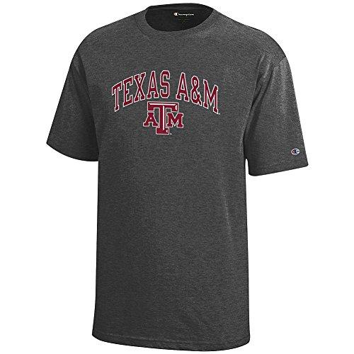 Elite Fan Shop Texas A&M Aggies Kids Tshirt Varsity Charcoal - XL -