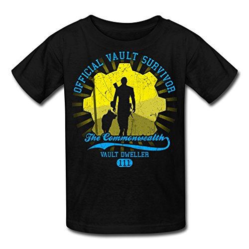 Price comparison product image Big Boys'/Girls' Fallout 4 Vault Dweller 111 T-Shirt - Black