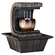 Ore International K323 Indoor Meditation Table Fountain with LED Light, 9-3/4-Inch